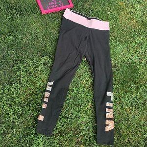 PINK Victoria Secret Highwaisted sequin leggings